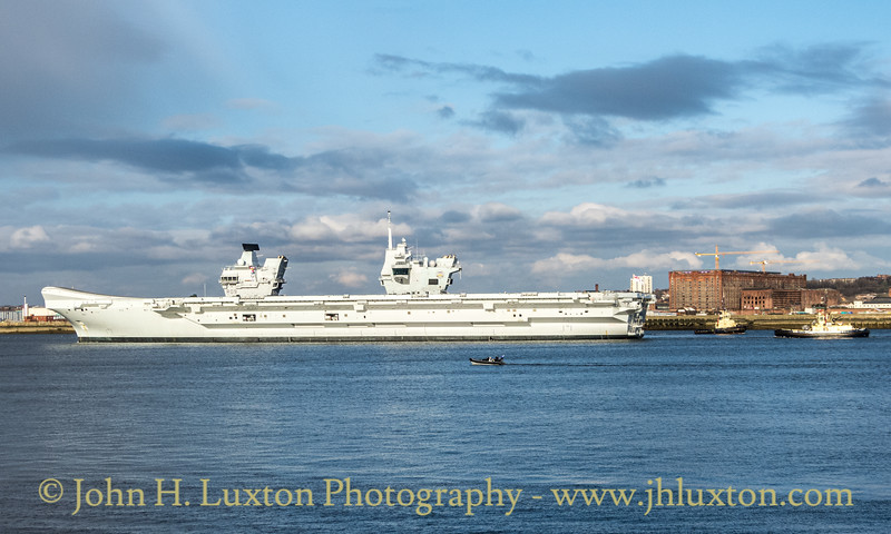 HMS PRINCE OF WALES at Liverpool Cruise Terminal - March 06, 2020