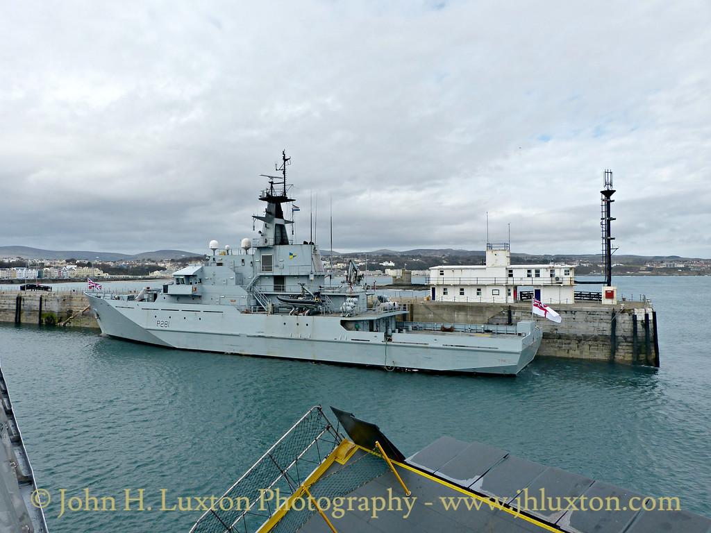 HMS TYNE - Douglas Harbour, March 28, 2015
