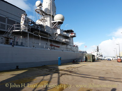 HNLMS VAN AMSTEL (F831) at Liverpool Cruise Terminal - January 17, 2015