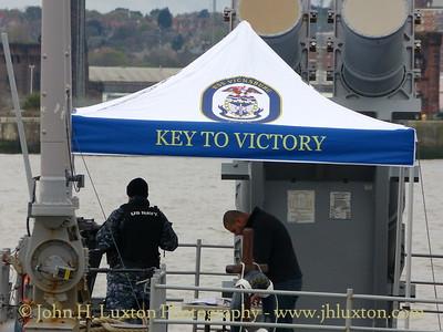 USS VICKSBURG visits Liverpool - April, 2015