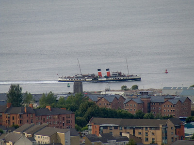 The Waverley passing James Watt Dock in Greenock
