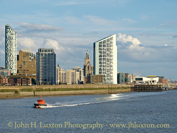 On Saturday August 29 Mersey Pilot PV PETREL is seen leaving the Liverpool Pilot Station on the cruise stage viewed from the Isle of Man Steam Packet Company's MANANNAN.