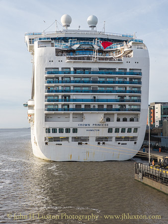 Carnival Corporation CROWN PRINCESS - Liverpool Cruise Terminal - September 14, 2019