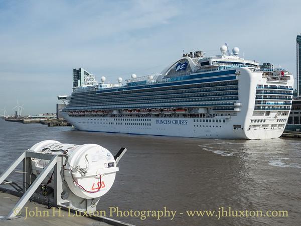 Carnival Corporation CROWN PRINCESS - Liverpool Cruise Terminal - September 14, 2019