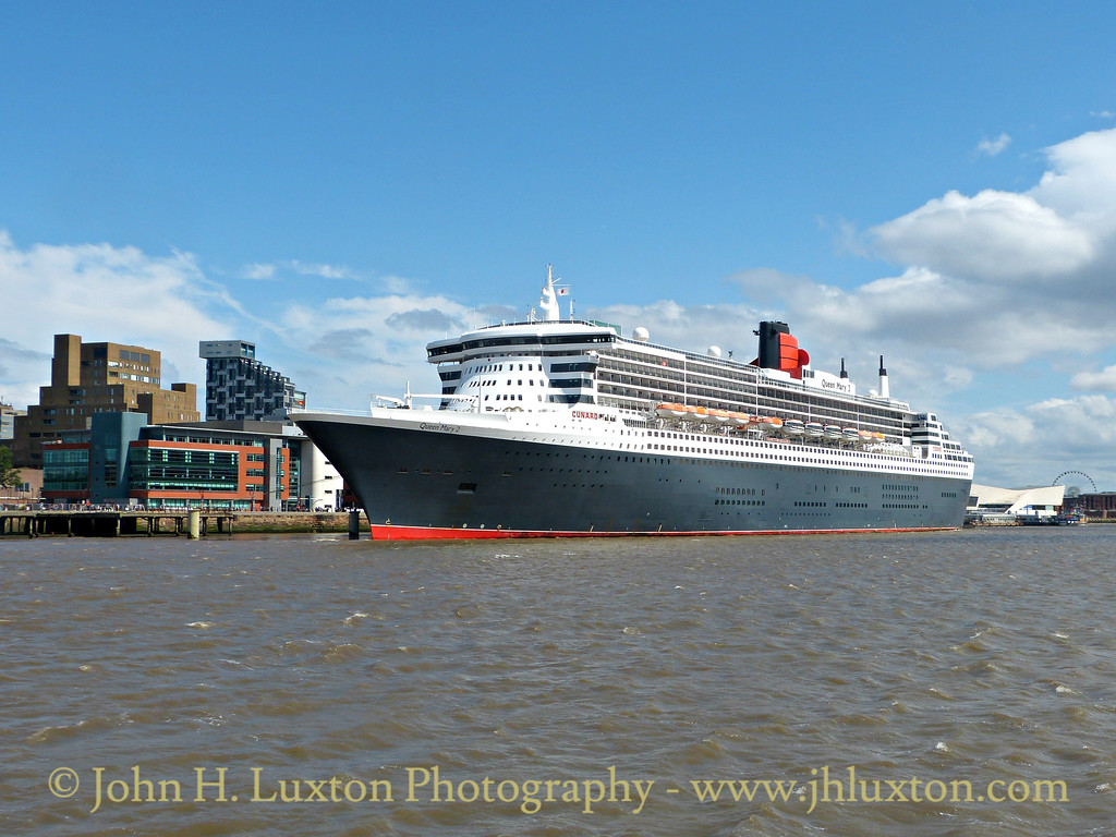 Carnival Corporation QUEEN MARY 2 seen alongside Liverpool Cruise Terminal on Saturday July 04, 2015