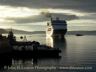 Carnival Holland America Line ROTTERDAM making an early morning approach to Cóbh Cruise Terminal, Port of Cork, on July 24, 2003.