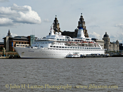 MS DISCOVERY arriving at Liverpool Cruise Terminal on Sunday August 23, 2014