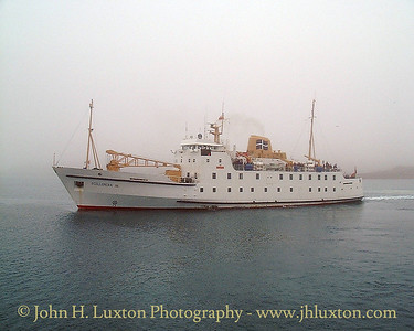 RMV SCILLONIAN III departing Hugh Town on a murky afternoon for Penzance   PLEASE NOTE THIS IS A LOW RESOLUTION IMAGE taken with an early digital camera and is is not of the same quality as would be expected today.