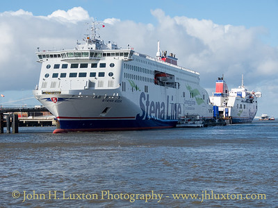 STENA EDDA alongside Twelve Quays Terminal with STENA MERSEY.