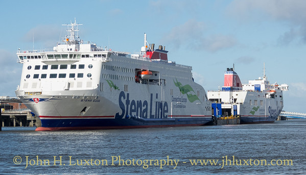 STENA EDDA alongside Twelve Quays Terminal with STENA MERSEY.
