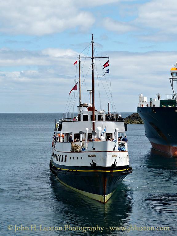 MV BALMORAL, Victoria Pier, Douglas Harbour - July 16, 2016