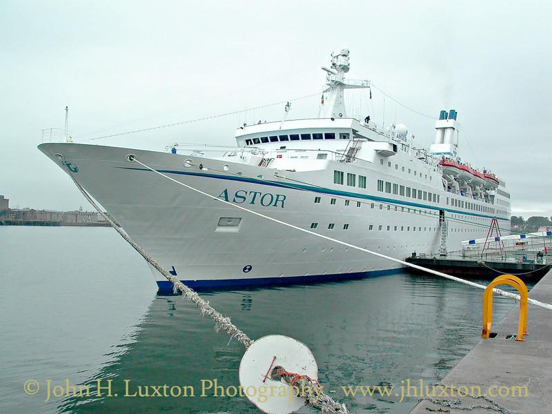 Transocean Tours ASTOR at Cóbh Cruise Terminal. August 02, 2002