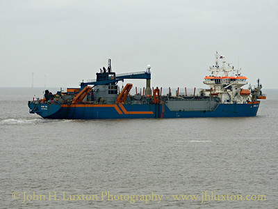 HAM 316 at Work in Crosby Channel - Saturday September 13, 2014