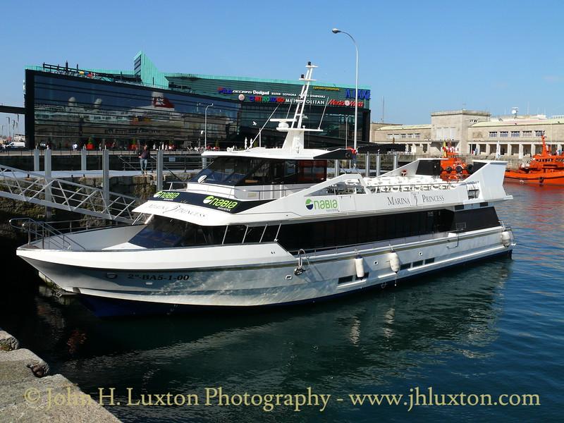MARINA PRINCESS rests between sailings on the VIGO to CANGAS service. April 14, 2010