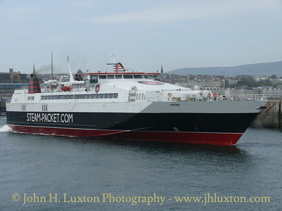 Isle of Man Steam Packet Company VIKING departing from Douglas for Liverpool on May 03, 2008.