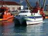 Passenger fast craft MAR DE ONS arrives at Vigo - April 14, 2010.