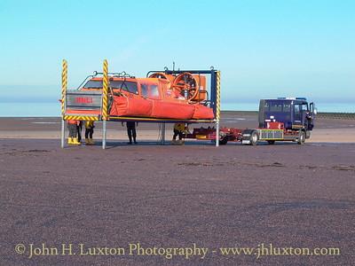 RNLI Hovercraft MOLLY RAYNER undergoing trials at New Brighton - February 15, 2004.