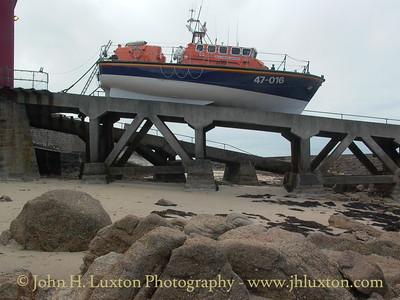 Sennen Cove Lifeboat RNLB NORMAN SALVESEN at Sennen Cove Lifeboat Station - April 06, 2004