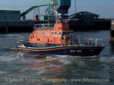 Troon lifeboat RNLB CITY OF GLASGOW at Ayr Harbour, August 11, 2003