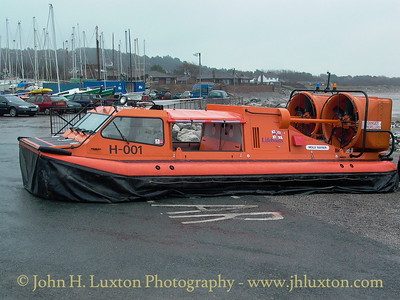 RNLI Hovercraft MOLLY RAYNER undergoing trials at West Kirby - February 14, 2004.