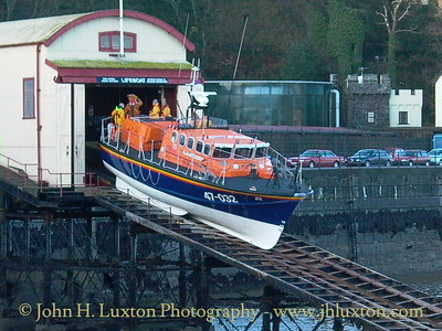 RNLB SIR WILLIAM HILLARY launches on an exercise with Pudsey Bear! November 10, 2002