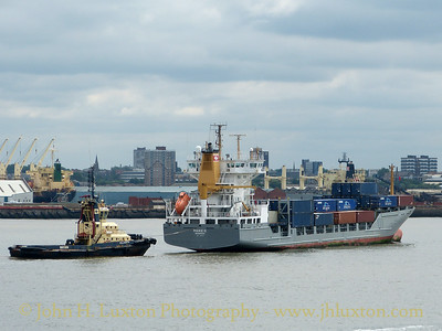 Mersey and Liverpool Bay Shipping - June 18, 2016