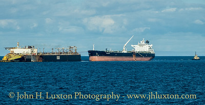 Crude oil tanker STAR SWIFT 63661grt / 2003 seen at the Liverpool Bay OSI on September 07, 2019.   She is owned by Centaurus Shipping Corporation of Monaco and managed by V Ships.  Photographed from Isle of Man Steam Packet Company's MANANNAN.