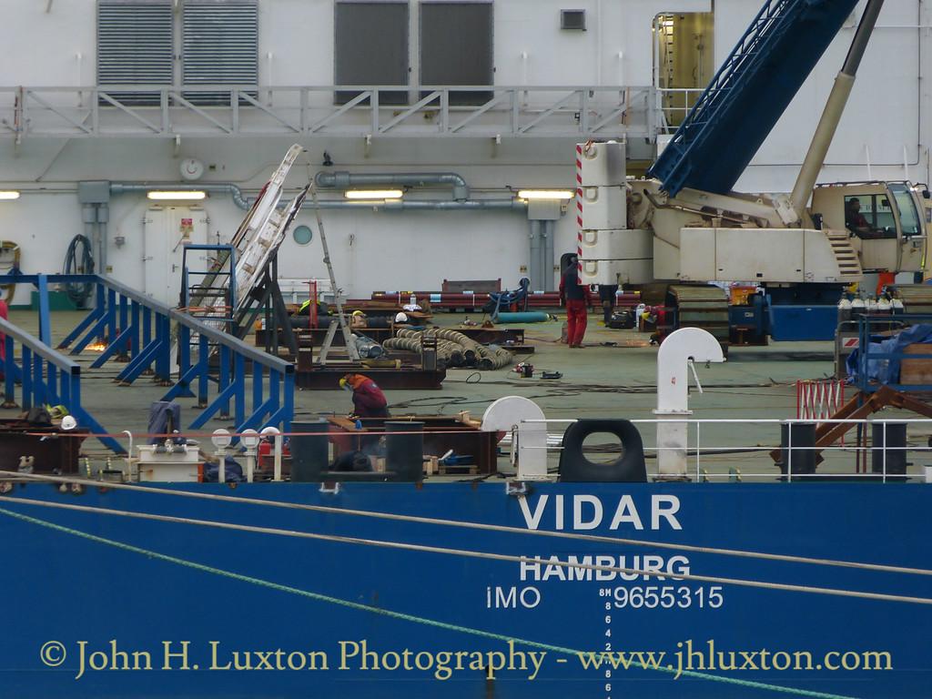 VIDAR at Liverpool Cruise Terminal - March 19, 2016