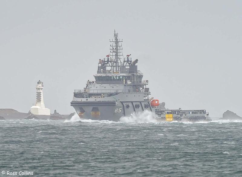 'Janequeo' arriving at Wellington, 28 January 2021
