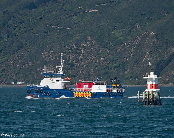 'Seaworker' arriving into Wellington Harbour, 28 January 2019