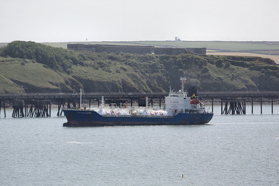GAS EVOLUZIONE IMO:9142318 3504gt - Arriving @ Milford Haven 19.05.11