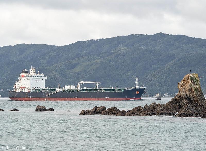 'British Cadet' departing from Wellington, 13 June 2020