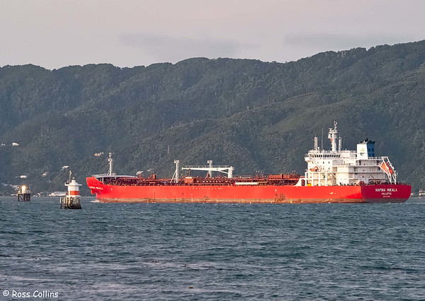 'Hafnia Mikala' arriving at Wellington, 25 July 2020