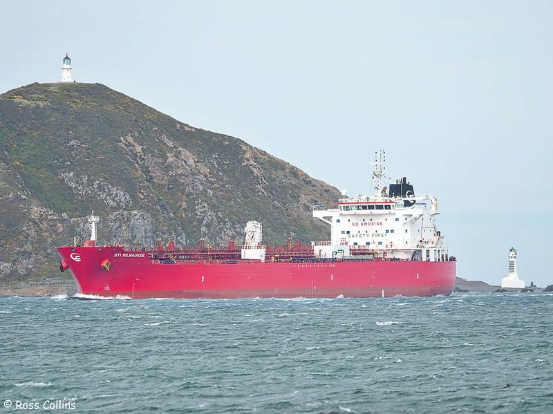 'STI Milwaukee' arriving at Wellington, 13 September 2020