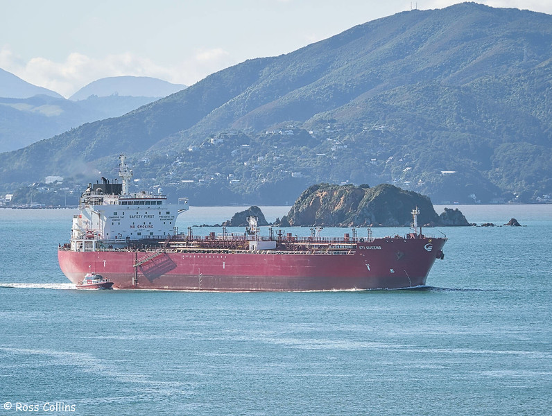 'STI' Queens' departing from Wellington, 6 May 2020