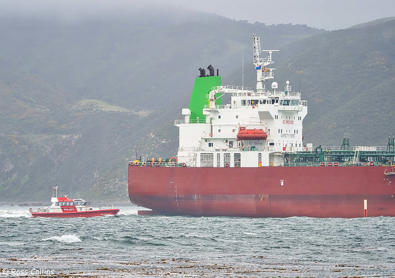 'Silver Ebalina' departing from Wellington, 25 October 2020