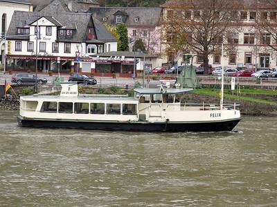 Ferry FELIX berthed at Sankt Goar. Thursday 20th November 2014.