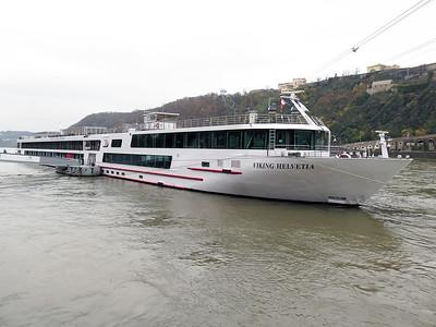 Cruise ship VIKING HELVETIA, MMSI 211539230, berthed at Koblenz. Thursday 20th November 2014.