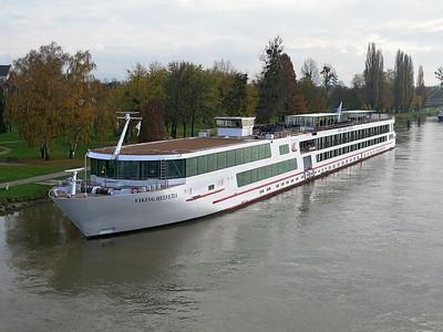 VIKING HELVETIA, berthed at Kehl. Tuesday 18th November 2014.