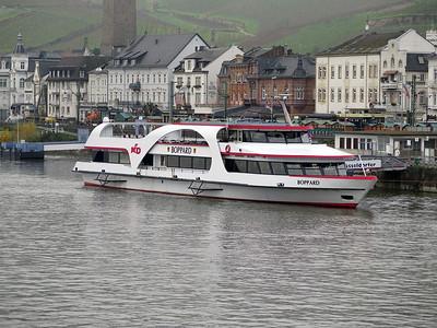 Sight seeing boat BOPPARD, MMSI 244820528 berthed at Rudesheim. Thursday 20th November 2014.