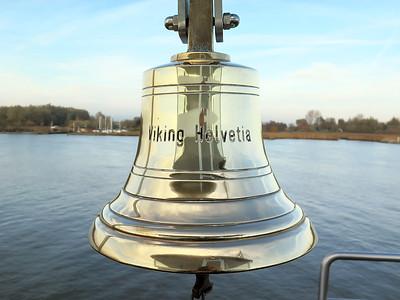 VIKING HELVETIA's ships bell. Saturday 22nd November 2014.