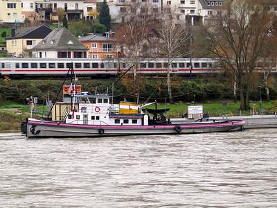 Pilot Boat Trechtingshausen berthed at Trechtingshausen. Thursday 20th November 2015.