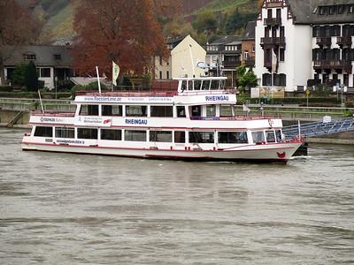 Sightseeing/Ferry RHEINGAU berthed at Assmannshausen. Thursday 20th November 2014.