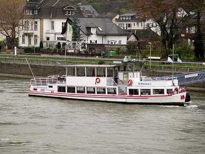Sightseeing/Ferry St.NIKOLAUS I berthed at Assmannshausen. Thursday 20th November 2014.