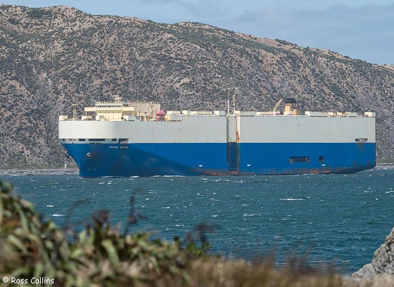 'Grand Eagle' arriving at Wellington, 14 February 2020