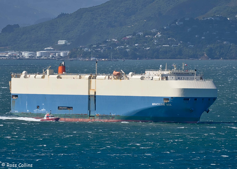 'Miraculous Ace' departing from Wellington, 11 February 2021