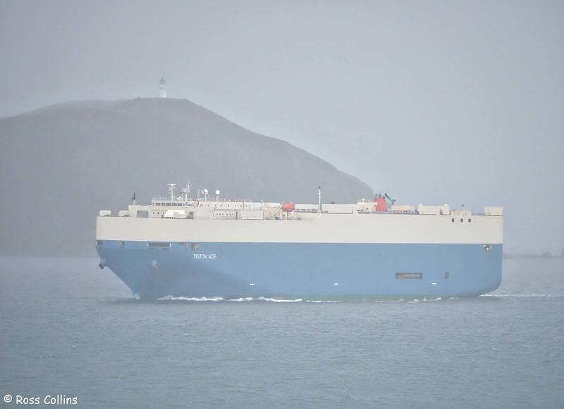 'Triton Ace' arriving at Wellington, 20 August 2020
