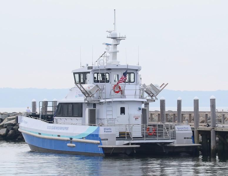 'Atlantic Pioneer' docked at Quonset Point, RI