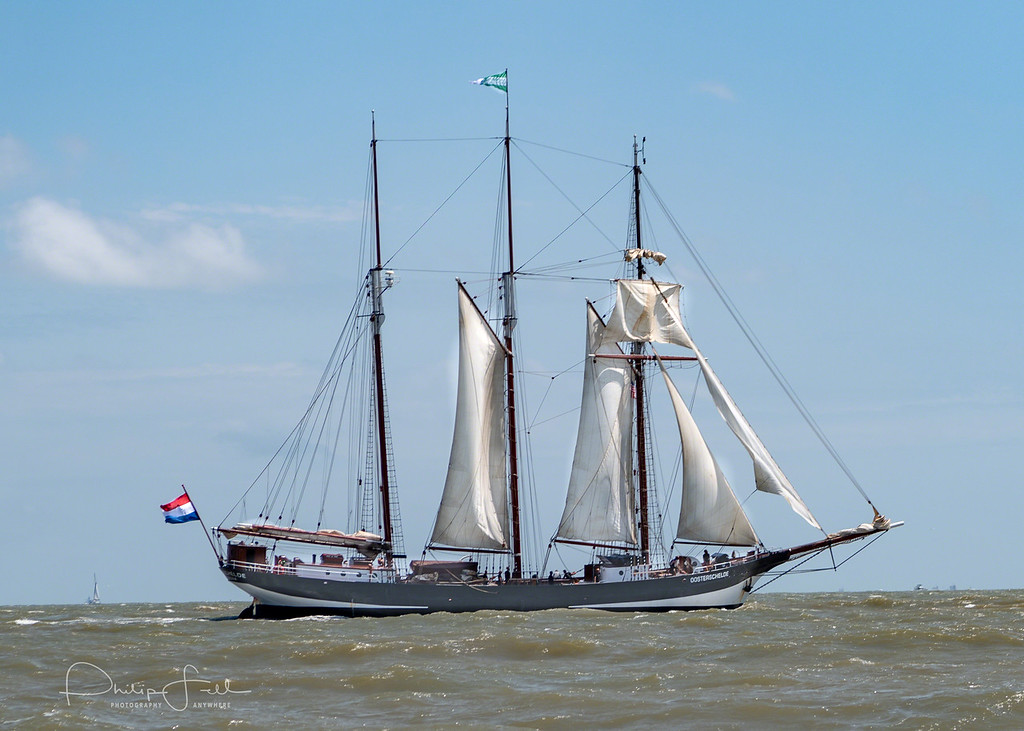 The three-masted topsail schooner 'Oosterschelde' is the last remaining representative of the large fleet of schooners that sailed under the Dutch flag at the beginning of the 20th century. As the largest restored Dutch sailing ship the 'Oosterschelde' is a monument for Dutch shipbuilding and maritime navigation under sail.