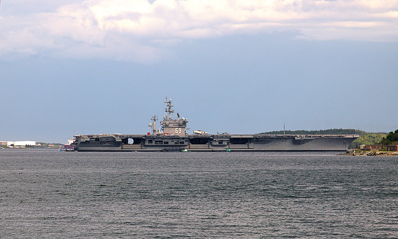 """CVN-69 """"Dwight D Eisenhower"""" visiting for Canada Day<br /> Halifax Harbor, NS, Canada 06/29/2017<br /> This work is licensed under a Creative Commons Attribution-<br /> NonCommercial 4.0 International License"""